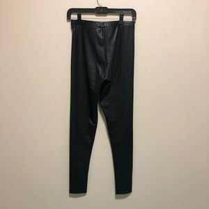 NWOT Faux leather leggings, small
